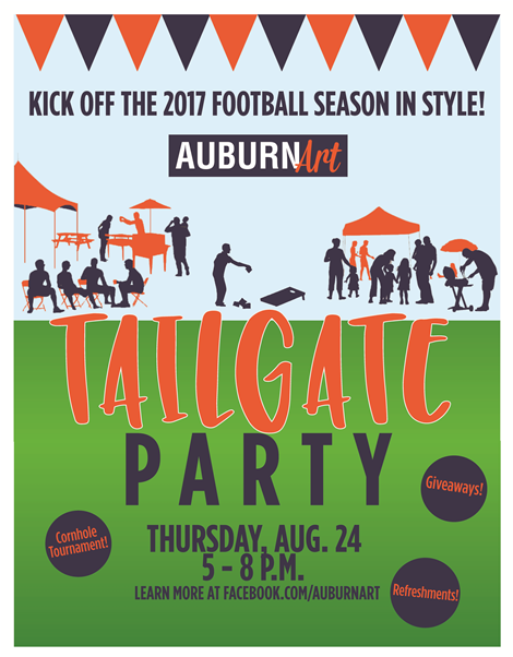 Auburn Art Hosting 2017 Tailgate Kickoff Party Aug. 24