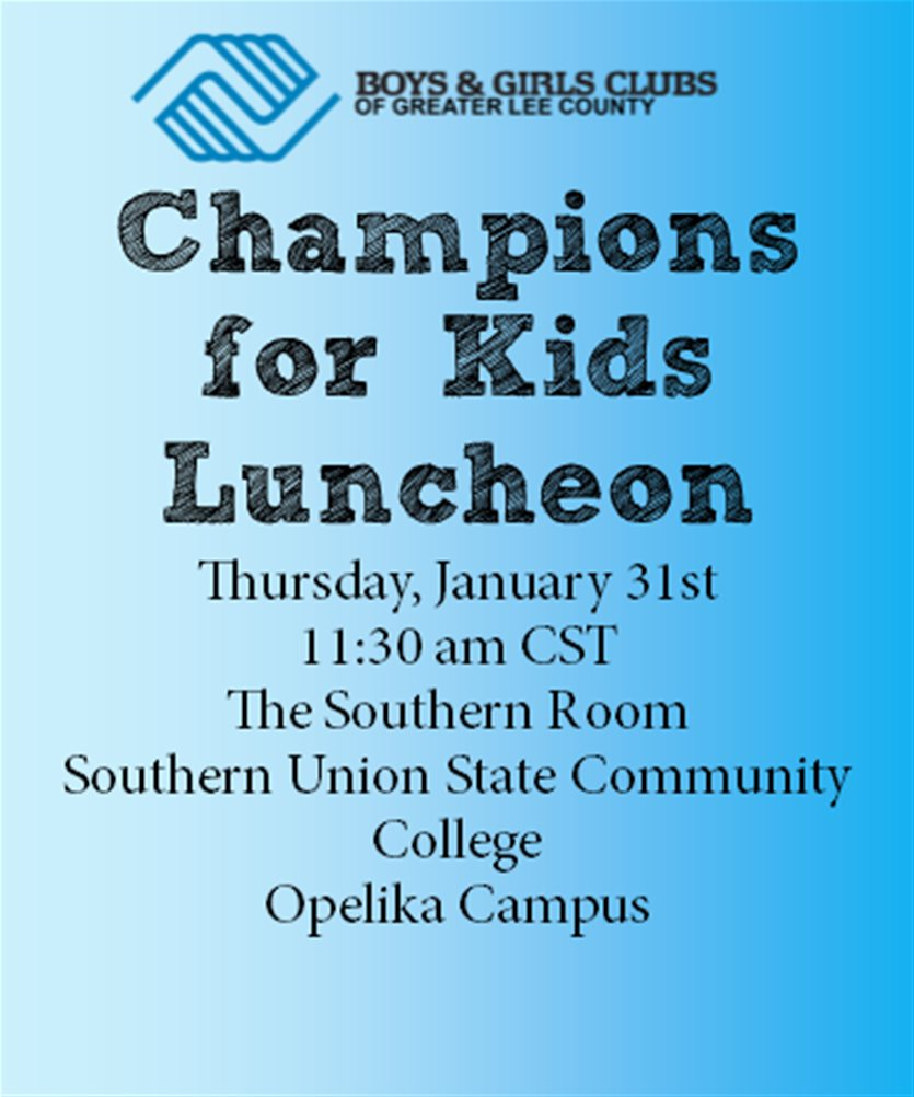Champions For Kids Luncheon Boys Girls Club
