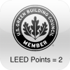 LEED Points = 2 rated