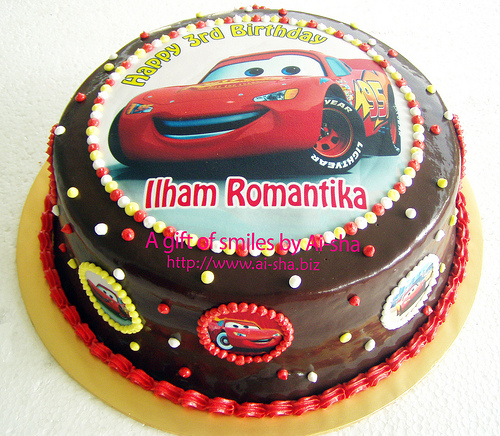 Edible Cake Images Cars : Birthday Cake Edible Image Disney Cars & Mini Fruit Tart ...