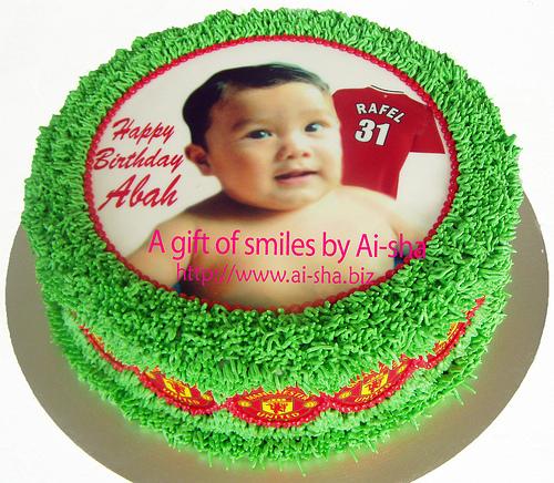 Birthday Cake Edible Image Baby Boy Photo - Aisha Puchong Jaya