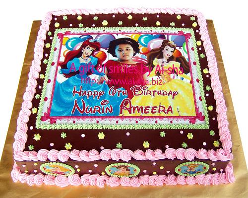 Birthday Cake Edible Image Disney Princess