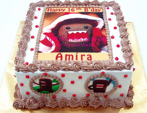 Birthday Cake Edible Image Domo