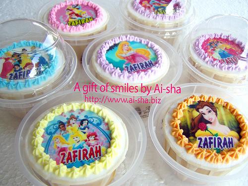 Birthday Cupcakes Edible Image Disney Princess
