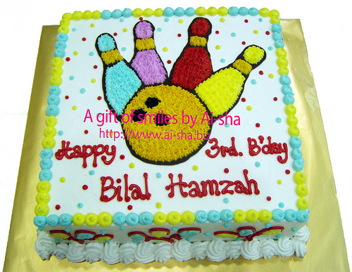 Birthday Cake Buttercream Drawing