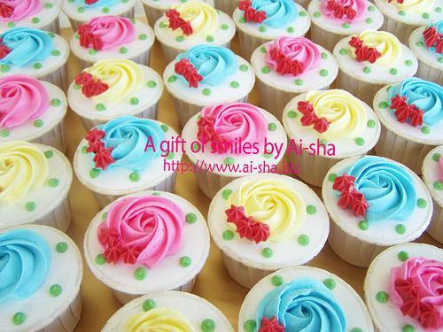 Swirl deco Buttercream cupcakes