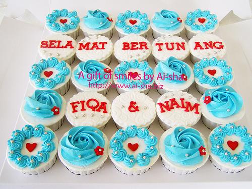 Engagement Cupcakes - Hantaran Pertunangan