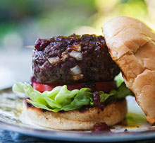 bison burger healthy muscle building recipe