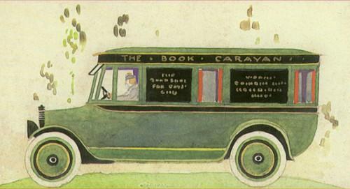 Book caravan painting