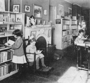 Children browsing in the Bookshop for Boys and Girls