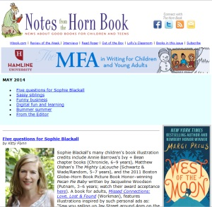 Notes from the Horn Book, Birds and the Bees edition