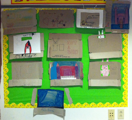 Nicole's students are inspired by Not a Box by Antoinette Portis