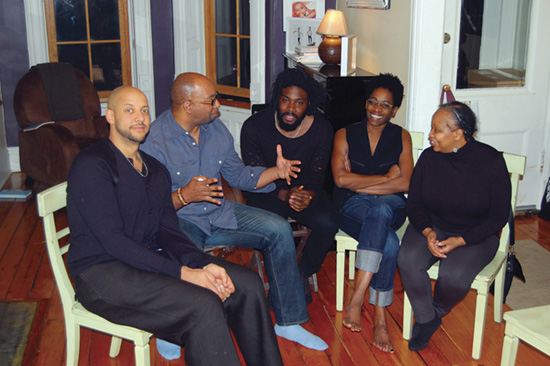 "In Jackie Woodson's Brooklyn living room, ""on hiatus from saving the world."" Photo: Nataki Hewling"