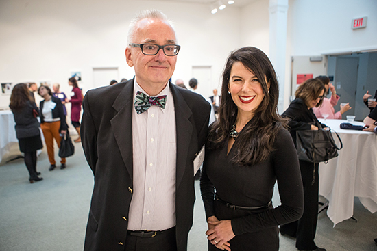 Roger Sutton and Linda Pizzuti Henry. Photo: Aram Boghosian.