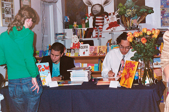 George O'Connor and Nick Bruel at Books of Wonder.