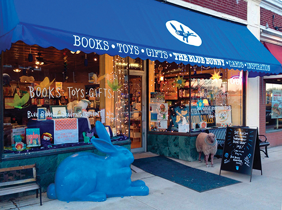 The Blue Bunny Bookstore. Photo courtesy of Peter H. Reynolds.