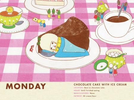ice cream work monday