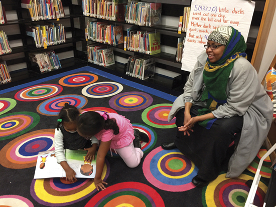 The library after school is a place for families. Photo: Liz Phipps Soeiro.
