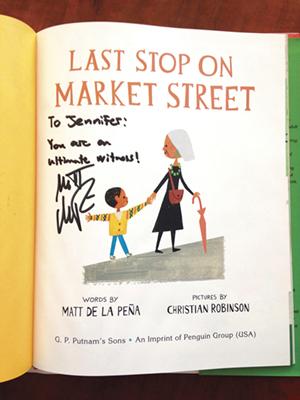 Last Stop on Market Street. Illustration 2015 by Christian Robinson. Photo: Jennifer Buehler.