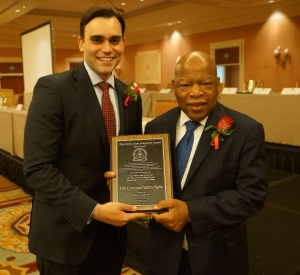 300_John Lewis & Andrew Aydin with Coretta Scott King award 2014-06-29-2