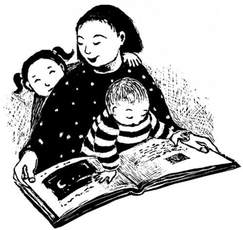 Family Reading by Liza Woodruff
