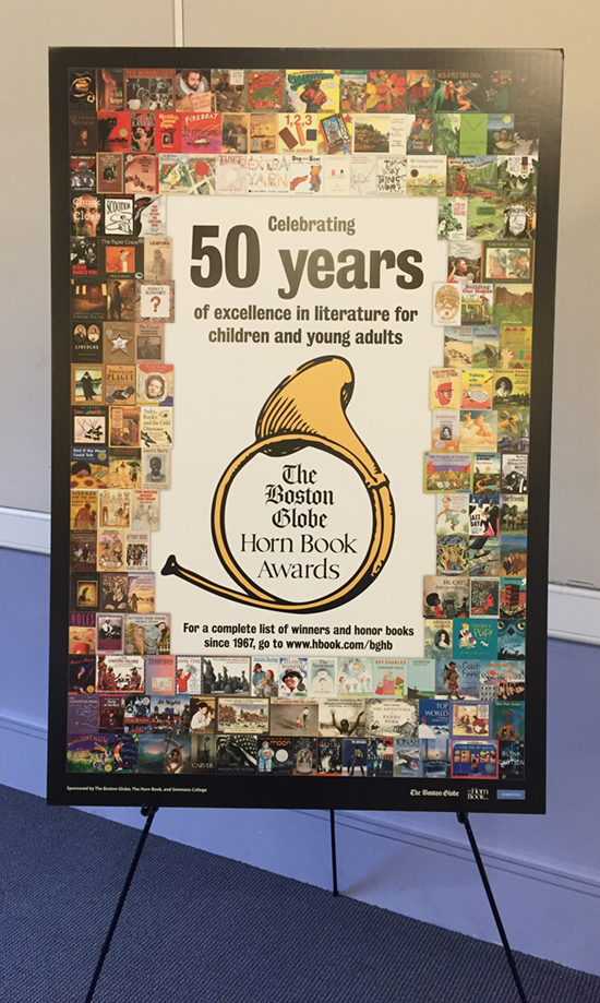 2016 Boston Globe–Horn Book ceremony timeline
