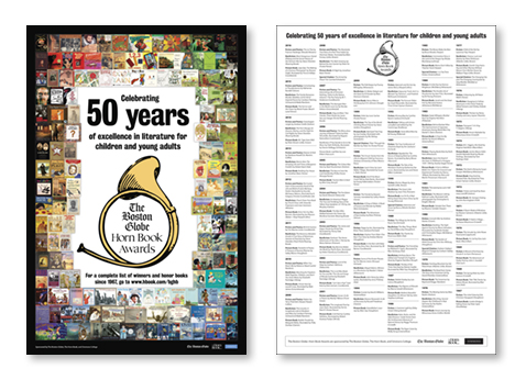 Pretty, pretty 2017 Boston Globe-Horn Book Awards poster