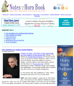 January's Notes from the Horn Book newsletter