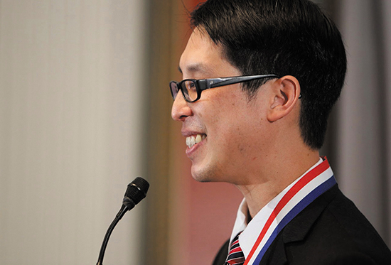 National Ambassador for Young People's Literature Gene Luen Yang. Photo courtesy of the Library of Congress.