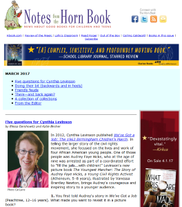 March's Notes from the Horn Book