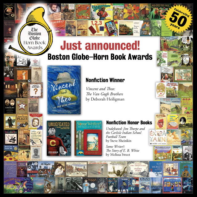 Reviews of the 2017 Boston Globe–Horn Book Nonfiction Award Winner and Honor Books