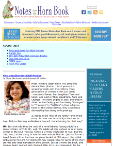 Mitali Perkins and more in August Notes