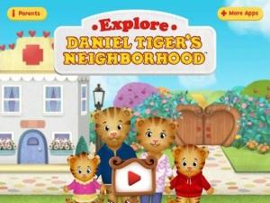 Explore Daniel Tiger's Neighborhood app review