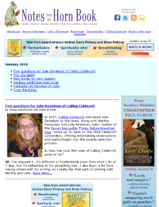 January Notes from the Horn Book newsletter is here!