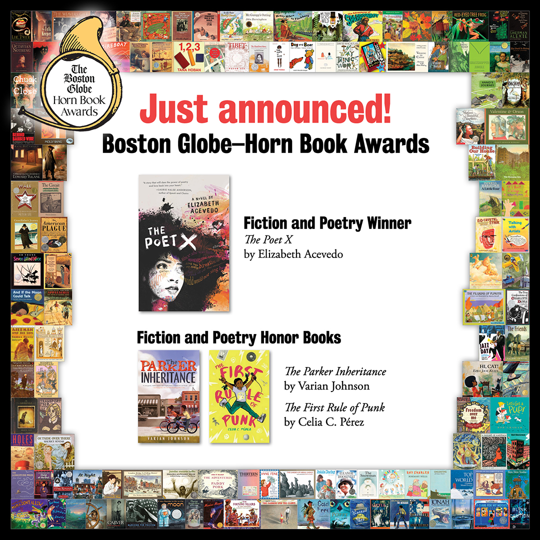 Reviews of the 2018 Boston Globe–Horn Book Fiction and Poetry Award Winner and Honor Books