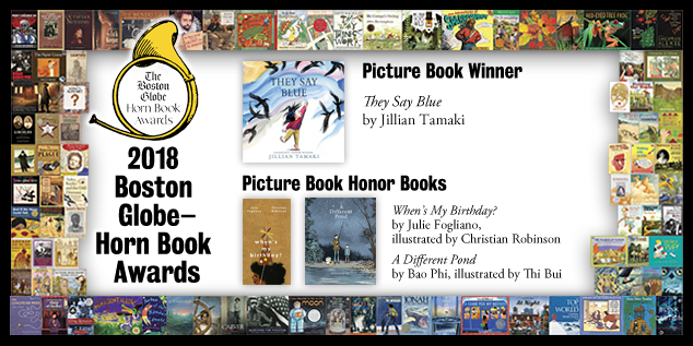 2018 BGHB Picture Book Award winners extras