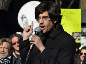 Aaron Swartz at SOPA rally