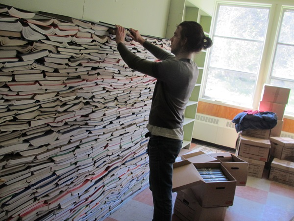 building the book wall