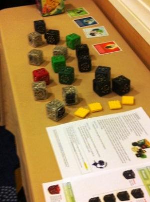 high-tech blocks on a table