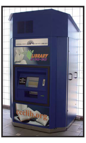 AHEAD OF THE RUSH Contra Costa County Library placed a vending unit in two BART stations back in 2008
