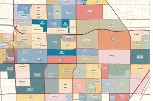 Market segmentation map of Las Vegas County