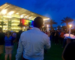 Vigil at Orlando's Dr. Phillips Center, June 13 Photo credit: Erin Sullivan