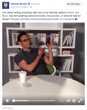 Author Simon Van Booy on HarperCollins's #writerlywednesday