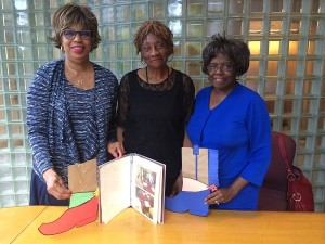 Birmingham Public Library announces creation of Innovative Cool Awards. L-R: BPL Trustee Eunice Johnson Rogers, BPL Advocacy Committee Chair Dora Sims, and BPL Trustee Gwendolyn Guster Welch.
