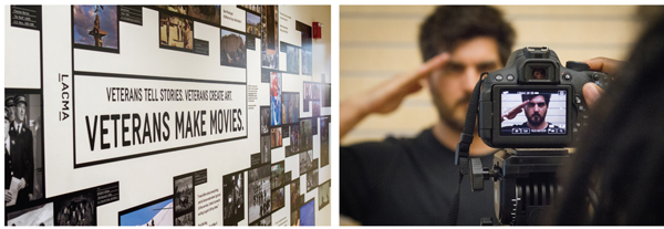 """Caption to go here talking about the Los Angeles County Museum of Art's """"Veterans Making Movies"""" exhibit, with two images shown here from that. Photos courtesy of the Los Angeles County Museum of Art"""