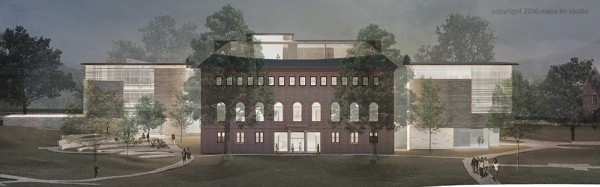 West elevation, Neilson Library renovation © 2016 Maya Lin Studio