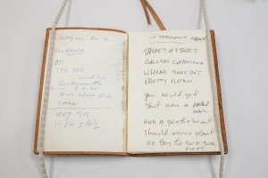 Notebook with lyrics Photo credit: Jonathan Blanc/The New York Public Library