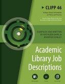 Academic Library Job Descriptions