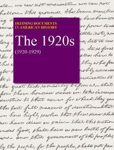 Defining Documents in American History: The 1920s