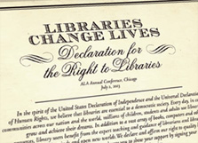ALA Plans Library Declaration Signing in Philadelphia